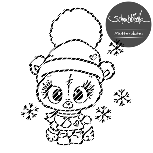 Winter Teddy Snow Plott