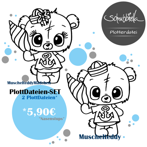 Muschel Teddy 2er Set Plott