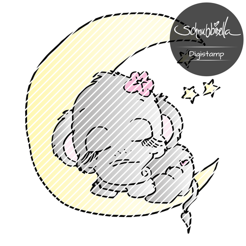 Mond Elefant W Digistamp