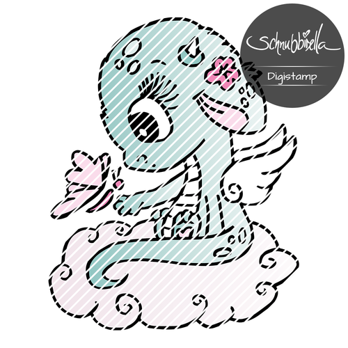Wolken Drache Digistamp