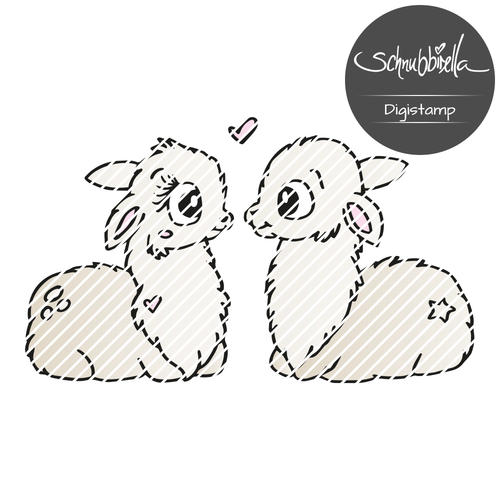 Alpaka Liebe Digistamp