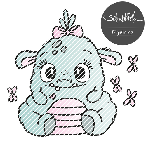 Kuschel Monster Digistamp