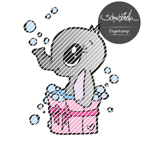 Bade Elefant Digistamp